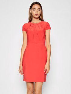 Lauren Ralph Lauren Sukienka koktajlowa 250837438001 Czerwony Regular Fit
