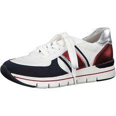 Buty sportowe damskie Marco Tozzi sneakersy sznurowane na płaskiej podeszwie