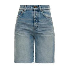 Five Pockets Denim Bermuda Shorts