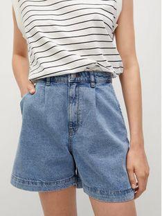 Mango Szorty jeansowe Regina 17010811 Niebieski Slouchy Fit