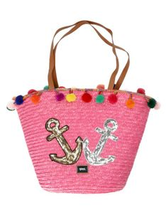 Pleciona różowa torebka plażowa Verde16-0004704