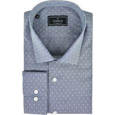 Koszula męska Victorio bawełniana w abstrakcyjne wzory z długim rękawem