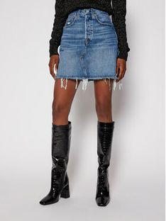 Levi's® Spódnica jeansowa Destructed 77882-0020 Niebieski Slim Fit