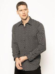 Diesel Koszula Penn Copy Shirt 00S96F 0PAYJ Czarny Regular Fit