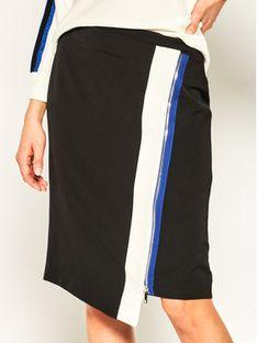 DKNY Spódnica trapezowa P0AN6ETF Czarny Regular Fit