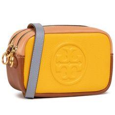 Torebka TORY BURCH - Perry Bombe Color Block Mini Bag80578 Goldfinch 703