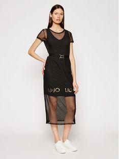 Liu Jo Sport Sukienka codzienna TA1139 J6187 Czarny Regular Fit