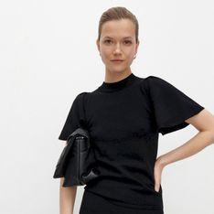 Reserved - Dzianinowa bluzka ze stójką - Czarny