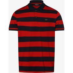 Czerwony t-shirt męski Paul & Shark wiosenny z krótkim rękawem w paski