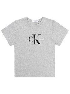 Calvin Klein Jeans T-Shirt Monogram Logo IU0IU00068 Szary Regular Fit