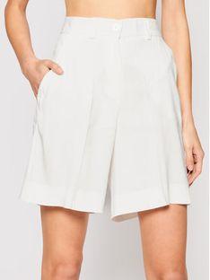 Marella Szorty materiałowe Rivalsa 31410115 Biały Regular Fit
