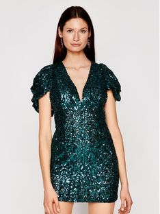 Babylon Sukienka koktajlowa N_S00996 Zielony Slim Fit