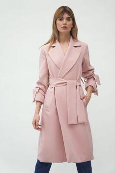 Niezapinany Wiosenny Płaszcz - Różowy