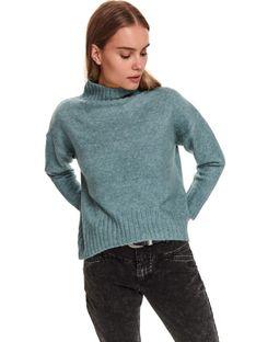 Sweter z krótkim golfem