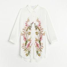Reserved - Koszula z kwiatowym printem - Wielobarwny