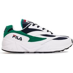 Białe buty sportowe męskie Fila z tworzywa sztucznego