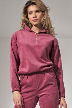 Sztruksowa Bluza na Stójce - Różowa