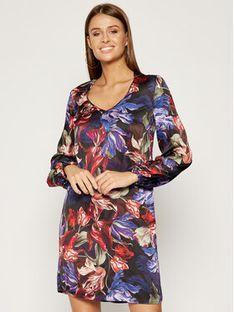 Manila Grace Sukienka codzienna A639VC Kolorowy Regular Fit