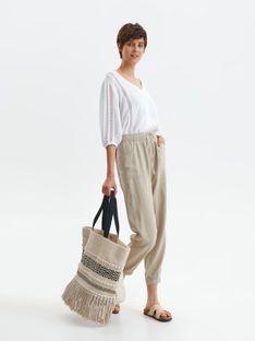Spodnie tkaninowe z gumką w pasie