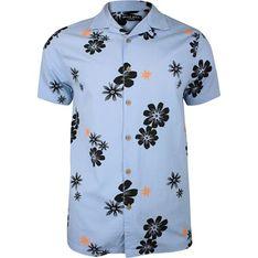 Koszula męska Brave Soul z krótkim rękawem w kwiaty letnia