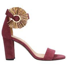 Amarantowe Sandały Na Słupku