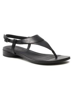 ECCO Sandały W Flat Sandal II 20842301001 Czarny