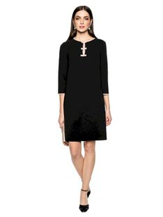 Czarna sukienka o prostym kroju L`AF ENA