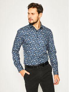 Strellson Koszula Sereno 30018824 Granatowy Slim Fit