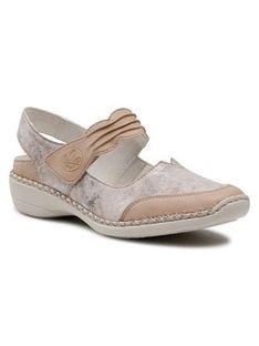 Rieker Sandały 41379-62 Beżowy