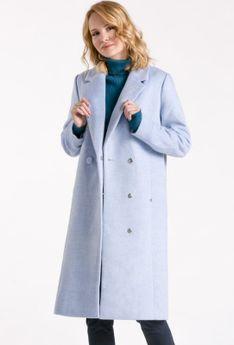 Wełniany płaszcz zapinany na guzik