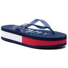 Japonki TOMMY JEANS - Rubber Thong Mid Beach Sandal EN0EN01301 Twilight Navy C87