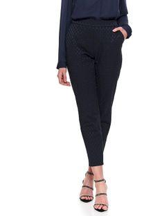 Eleganckie spodnie z żakardowej tkaniny