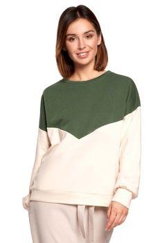 Bawełniana Bluza w Panele Kolorystyczne - Model 1