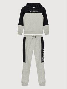 Calvin Klein Jeans Dres Clr Block IB0IB00952 Szary Regular Fit