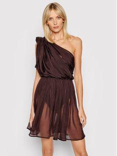 Drivemebikini Sukienka plażowa Etrusco 2021-DRV-022_BR Brązowy Regular Fit
