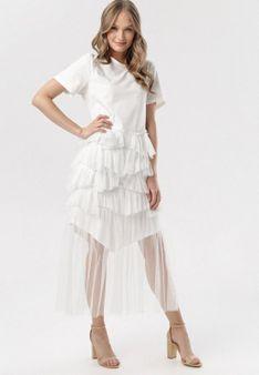 Biała Sukienka Yavia