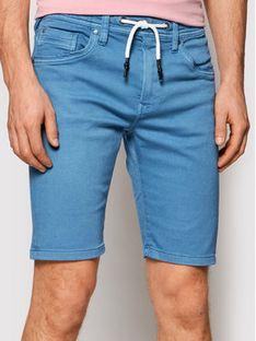Pepe Jeans Szorty materiałowe Jagger PM800720 Niebieski Regular Fit