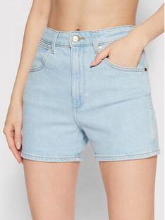 Wrangler Szorty jeansowe W22DZH25E Niebieski Mom Fit