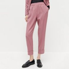 Reserved - Spodnie garniturowe z elastyczną talią - Wielobarwny