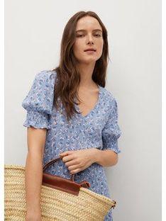 Mango Sukienka letnia Grape 87007141 Niebieski Relaxed Fit