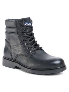 Tommy Jeans Kozaki Classic Tommy Jeans Lace Up Boot EM0EM00540 Czarny