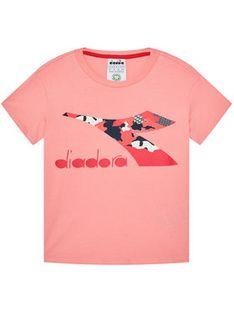 Diadora T-Shirt Chromia 102.176488 Różowy Regular Fit