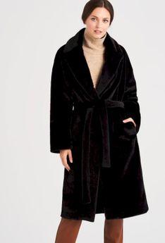 Płaszcz z imitacji futra