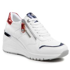Sneakersy DOCKERS BY GERLI - 47OU201-618507 White/Red