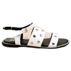 Goodin Białe Sandały Z Dżetami