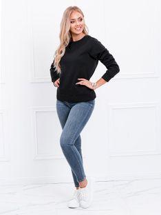 Bluza damska bez kaptura 001TLR - czarna