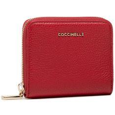 Mały Portfel Damski COCCINELLE - Metallic Soft E2 HW5 11 A2 01 Ruby R63