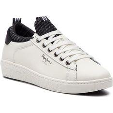 Buty sportowe damskie Pepe Jeans sneakersy wiosenne z gumy sznurowane