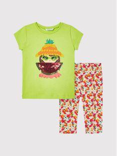 Mayoral Komplet t-shirt i legginsy 3741 Kolorowy Regular Fit