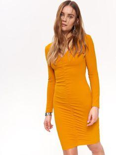 Kobieca sukienka w energetycznym kolorze